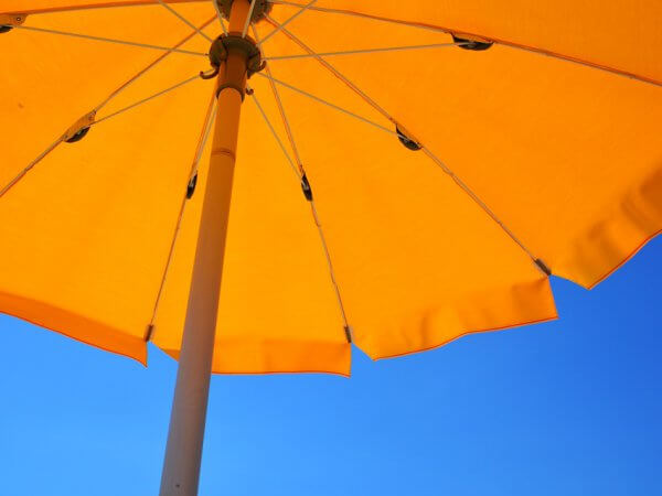 Yellow Umbrella Holiday Summer Parasol Beach