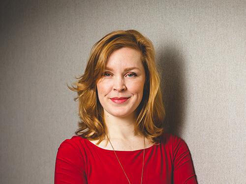 Portret Sanne Blom voor Nederlandse Stomavereniging